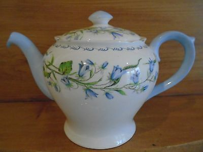 Vintage Shelley Harebell/blue Bell Teapot Perfect For A Teaset/cakestand/wedding