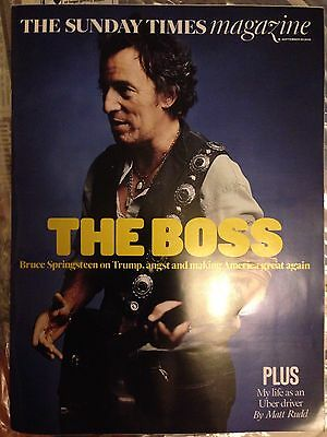 Bruce Springsteen Exclusive Interview Sunday Times Magazine 25 September 2016