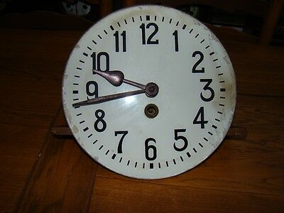 """8 day wall clock movement & dial 9""""1/2"""" for restoration or parts"""