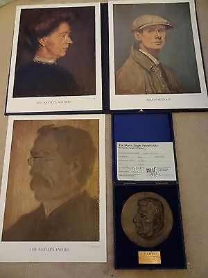 L S Lowry 3 X Pencil Signed Limited Edition 300 Portrait Mother Father & Bronze