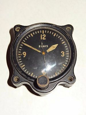 British Air Ministry Raf 8 Day Swiss Le Coultre Clock A.m 106A/322 8586/41 Work