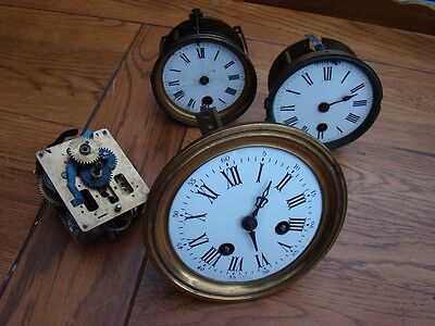 Job lot of French movements x 4 for restore or parts