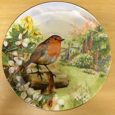 Royal Doulton Garden Visitors Collection Robin Collectors Display Plate