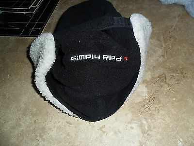 Simply Red Russian Winter Black/Fur Hat with Ear Flaps