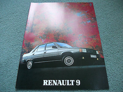 Renault 9 brochure 1983 featuring TC/TD/GTL/TSE and Automatic models
