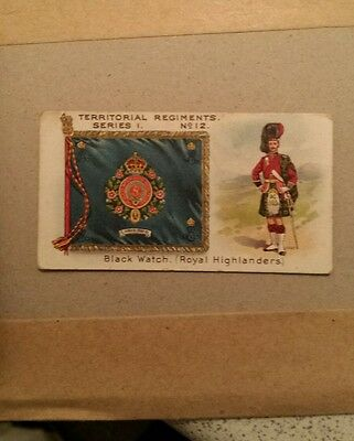 Taddy  &  Co. - Very Rare Military / Territorial Regiments Card - No. 12 -  1908