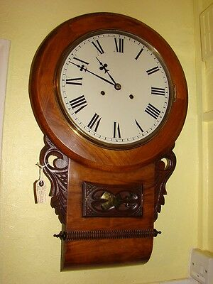 American drop dial wall clock for renovation, running good striking not working