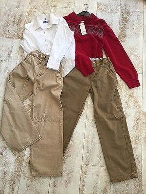 Lot of Boys Clothes New & Used Holiday Fall Size 8-10 Gymboree Gap JBWorld Shirt