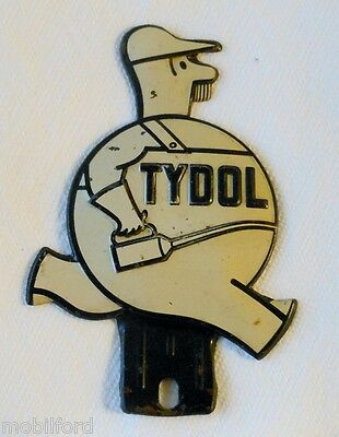 Vintage White Tydol License Plate Topper  - Article and Tydol History