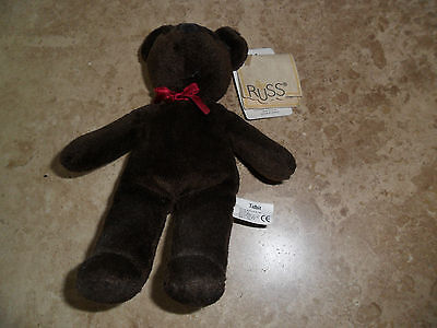 Vintage Russ Bear - Chocolate Brown with tag still attached (Tidbit)