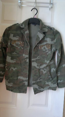 Girls Camo jacket Candy Couture Size age 11-12 years