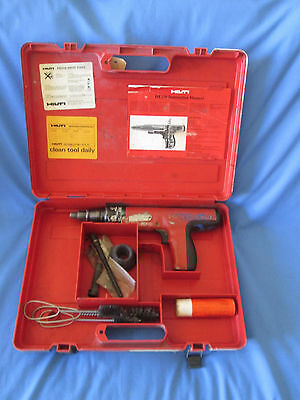 Hilti DX 350 Powder Actuated Nail Gun USED Working Complete With Case & Spares