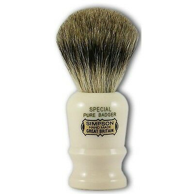 Simpsons Special Pure Badger Hair Shaving Brush With Imitation Ivory Handle