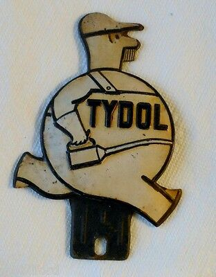 1936 White Tydol License Plate Topper  - Article and Tydol History