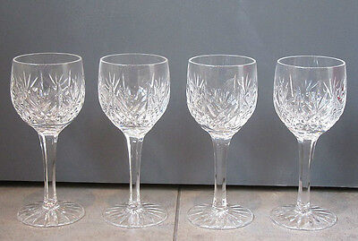 A Set of 4 Waterford Crystal Marquis Markham Pattern? Wine Glasses.