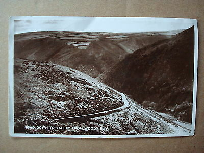 *** Vintage Postcard -  Road Down Valley From Woody Bay, 1919   ***