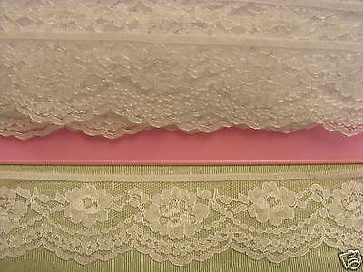 Flat Lace White  x 20 meters (215)