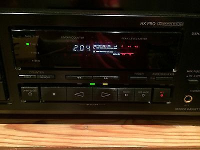 High End Sony TC-RX70ES Stereo Cassette Tape Deck + Manual