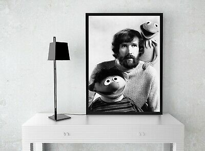 Art Print POSTER Jim Henson With Kermit The Frog and Ernie