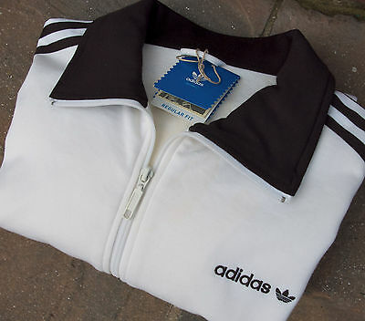 Adidas Beckenbauer Track Top Jacket L Large White Black NEW WITH TAGS