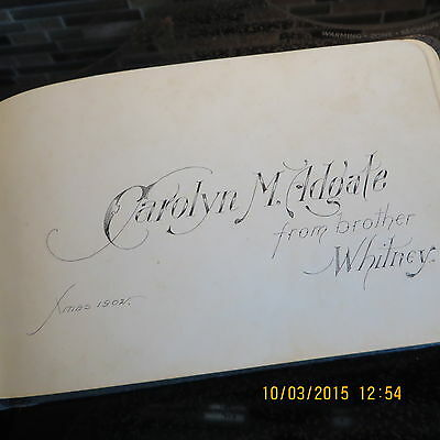 ANTIQUE AUTOGRAPH BOOK FROM EARLY 1900's (lots of autographs from the US)