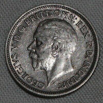 GREAT BRITAIN - KING GEORGE V SILVER SIXPENCE 6d 1936 VERY NICE CONDITION