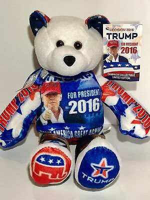 DONALD TRUMP Presidential Limited Edition Collectible Bean Bear  Retired