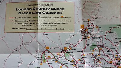 LONDON COUNTRY Bus & Green Line Coach Map from 1971