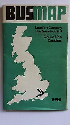LONDON COUNTRY Bus & Green Line Coach Map from 1974/5