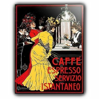 CAFFE CAFE ESPRESSO FRENCH Vintage Retro Advert METAL SIGN WALL PLAQUE poster