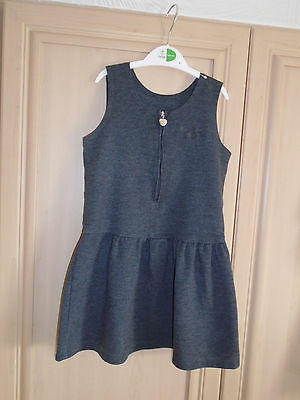 girls grey pinafore dress age 5 years by george