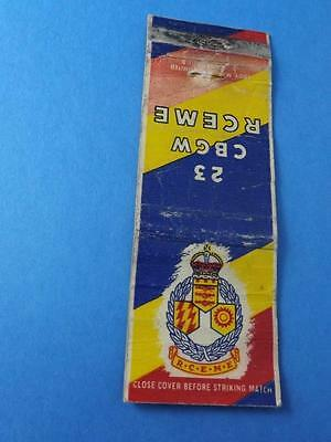 23 Cbgw Rceme Royal Canadian Electrical & Mechanical Engineers Matchbook Vintage