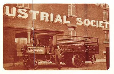 Postcard Nostalgia 1909 Gloucester CO-OP First Steam Wagon Reproduction Card