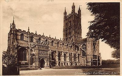 Vintage Postcard GLOUCESTER Cathedral S.W by Francis Frith & Co. Ltd No. 28968