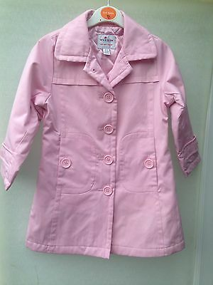 Girls NEXT Pink Rain Coat Age 3-4