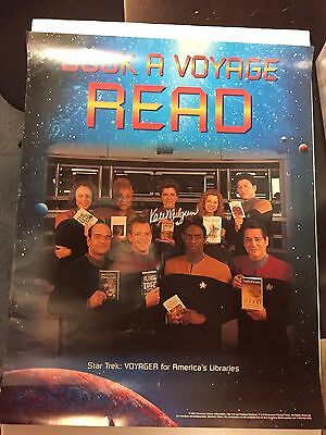 Kate Mulgrew Autographed Star Trek VOYAGER ALA READ poster Book a Voyage No COA