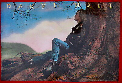 Daryl Hall 1986 orig promo poster mint 3 Hearts in the Happy Ending Machine