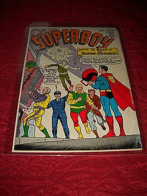 Superboy # 114 Tough 3.0 G/vg Silver Age 1964 The Raid Of The Super Outlaws.