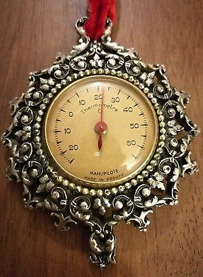 Vintage Decorative French Manupilote Thermometer made in France