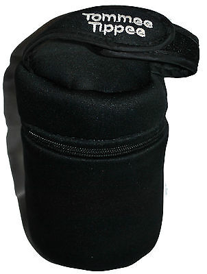 Tommee Tippee Closer to Nature Insulated Baby Bottle Warmer 1 Black Bag Carrier