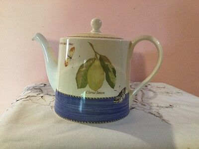 Wedgood Sarah's Garden Large Teapot. Made In England. New Never Used.