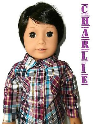 "American Girl Boy Doll Custom 18"" American Boy Doll Charlie *BRAND NEW*"