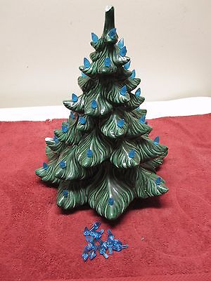 "Vintage Ceramic Christmas 14-18"" Tree ATLANTIC MOLD Green Project Repairs Craft"