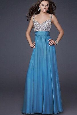 Women Long Chiffon Formal Lace Party Cocktail Evening Prom Wedding maxi Dress /