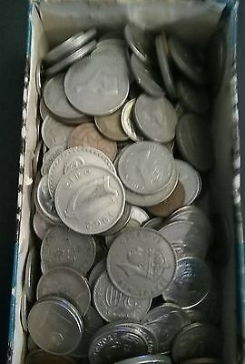 BOX of old EMPIRE & Commonwealth Coins