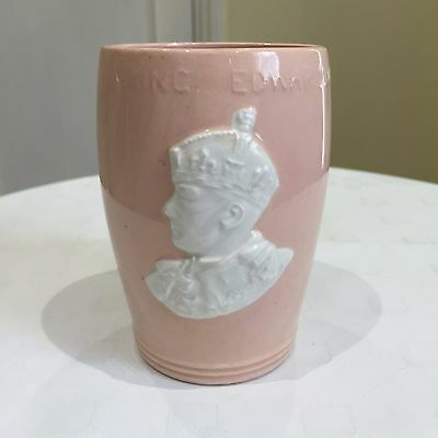 Edward VIII, Coronation mug, 1936, curious pink beaker! Johnson Brothers