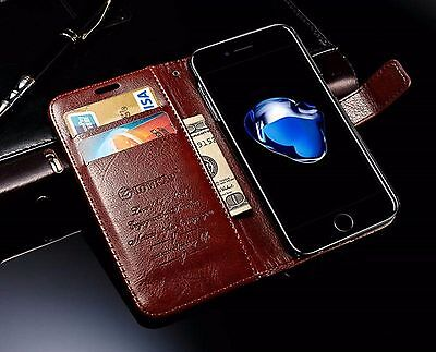 Classic Leather Stand Flip Front Back Cover Case Wallet Card for IPhone 7
