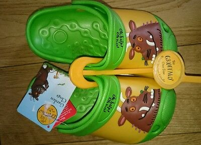 childrens gruffalo garden clogs 'crocs' size 4/5