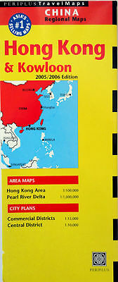 NEW~MAP OF HONG KONG & KOWLOON~Periplus,w/Details of CommercDist,PearlRiverDelta