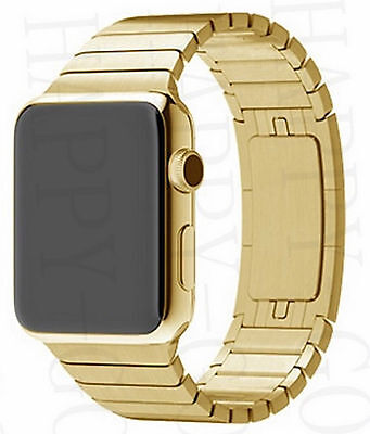 2.Gen Gold Smartwatch 42mm Bluetooth Uhr Android, i OS Watch Edelstahl iOS